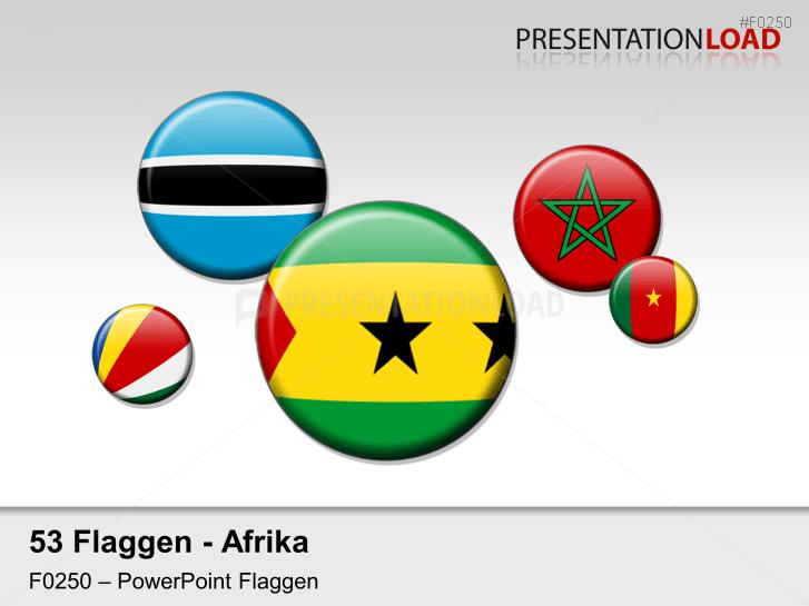 Afrika - Runde Buttons