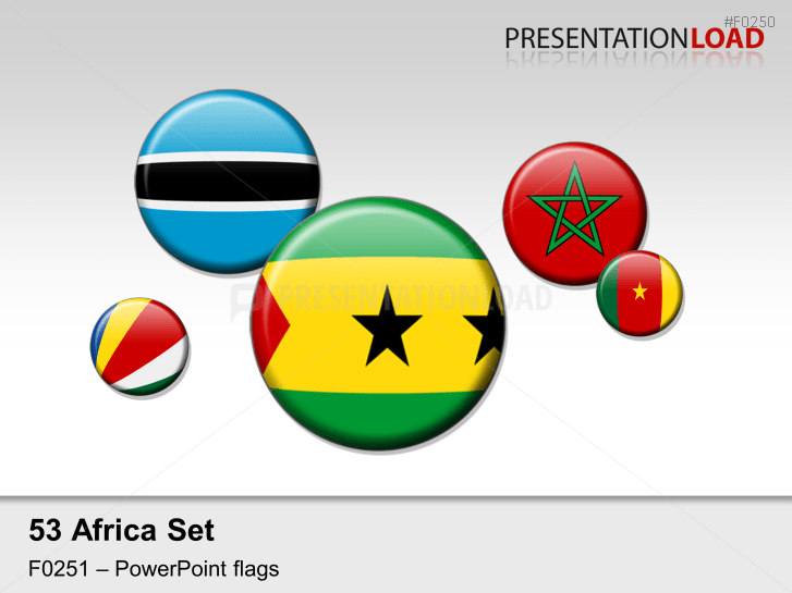 Africa Flags - Round Buttons