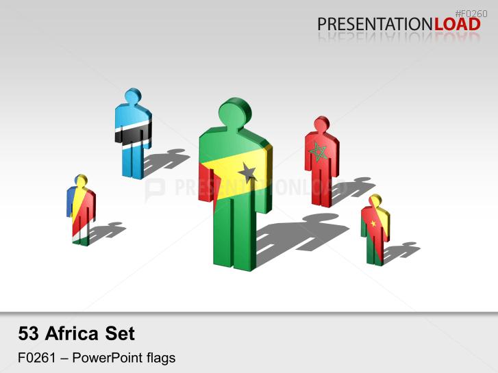 Africa Flags - Men figures