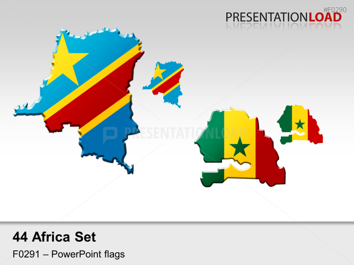Africa Flags - Country outlines