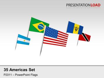 Americas Flags - on Pin _https://www.presentationload.com/flag-americas-pin.html