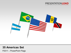 Americas Flags - on Pin _https://www.presentationload.com/flag-americas-pin.html