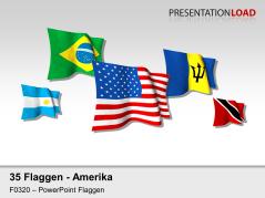 Amerika - Flaggen 3D _https://www.presentationload.de/flaggen-amerika-3d.html