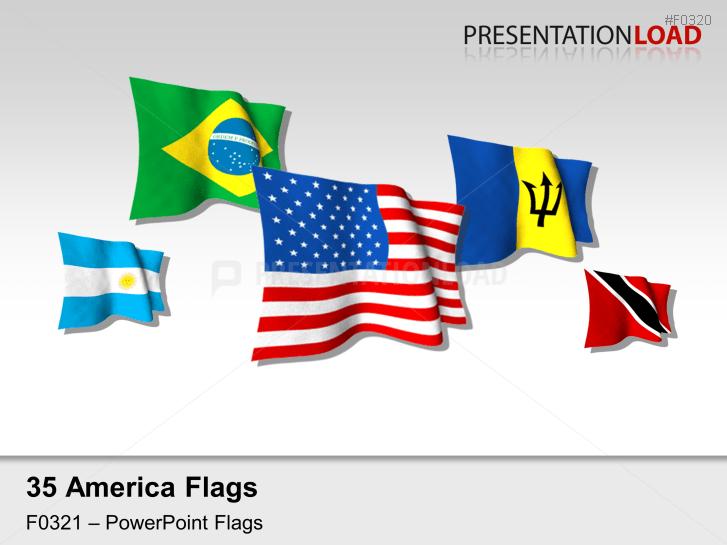 Americas Flags - Flags 3D _https://www.presentationload.com/3d-flag-americas.html