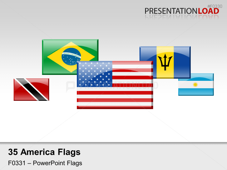 Americas Flags - Glass Buttons _https://www.presentationload.com/flag-americas-glass-buttons.html