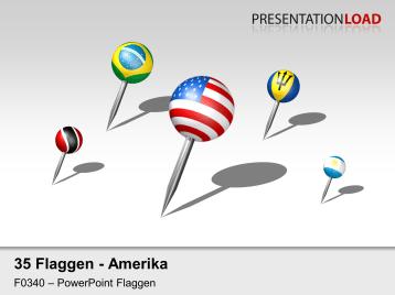 Amerika - Pins 3D _https://www.presentationload.de/powerpoint-landkarten/flaggen-icons/Amerika-Pins-3D.html