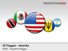 Amerika - Runde Buttons _https://www.presentationload.de/flaggen-amerika-runde-buttons.html