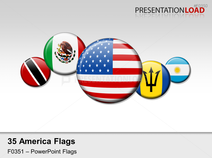Americas Flags - Round Buttons _https://www.presentationload.com/flag-americas-round-buttons.html