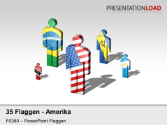 Amerika - Männchen _https://www.presentationload.de/flaggen-amerika-maennchen.html