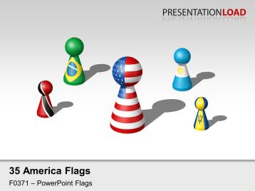 Americas Flags - Figures _https://www.presentationload.com/flag-americas-figures.html