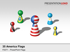 Americas Flags - Figures _https://www.presentationload.com/flag-americas-figures.html