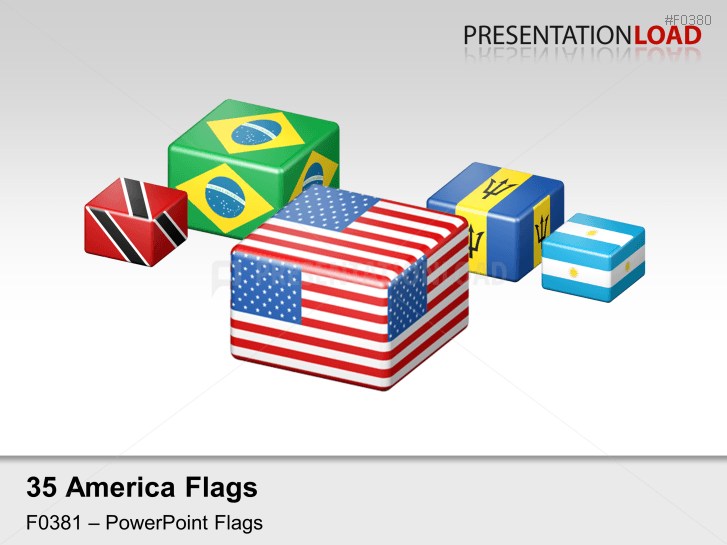 Americas Flags - Cubes