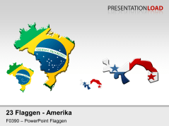 Amerika - Länderkonturen _https://www.presentationload.de/flaggen-amerika-laenderkonturen.html