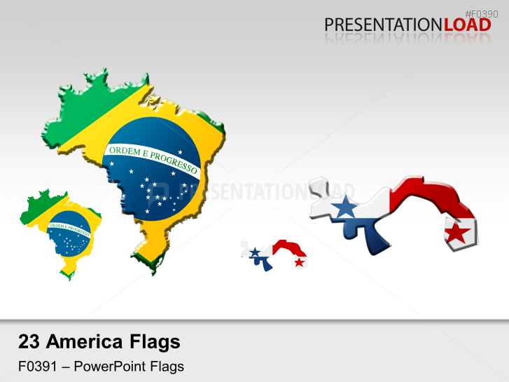 Americas Flags - Country outlines _https://www.presentationload.com/flag-americas-country-outlines.html