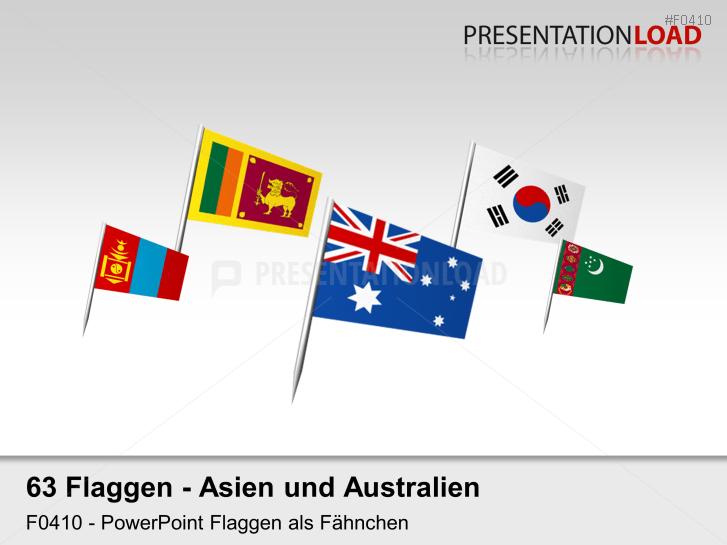 Asien / Pazifik - Fähnchen