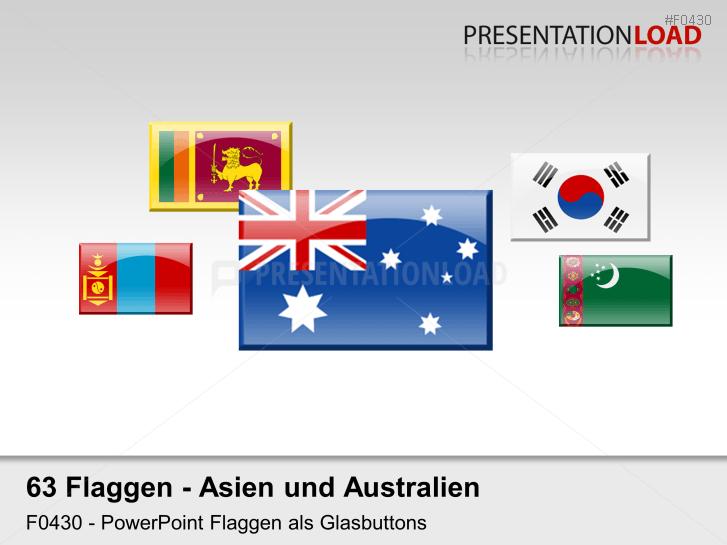 Asien / Pazifik - Glasbuttons