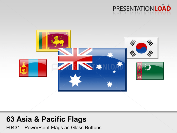 Asia & Pacific - Glass buttons _https://www.presentationload.com/flag-asia-pacific-glass-buttons.html