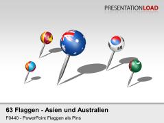 Asien / Pazifik - Pins 3D _https://www.presentationload.de/flaggen-asien-pazifik-pins-3d.html
