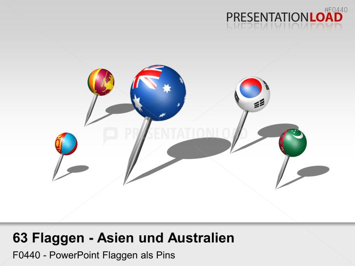 Asien / Pazifik - Pins 3D