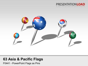 Asia & Pacific - Pins 3D _https://www.presentationload.com/3d-flag-asia-pacific-pins.html