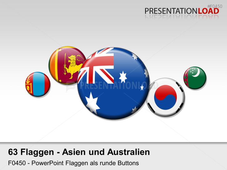 Asien / Pazifik - Runde Buttons
