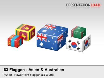 Asien / Pazifik - Würfel _https://www.presentationload.de/flaggen-asien-pazifik-wuerfel.html
