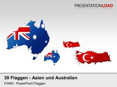Asien / Pazifik - Länderkonturen _https://www.presentationload.de/flaggen-asien-pazifik-laenderkonturen.html