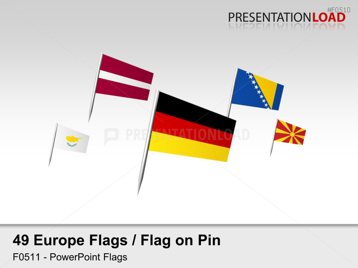 Europe Flags - Flags on Pin _https://www.presentationload.com/flag-europe-pin.html