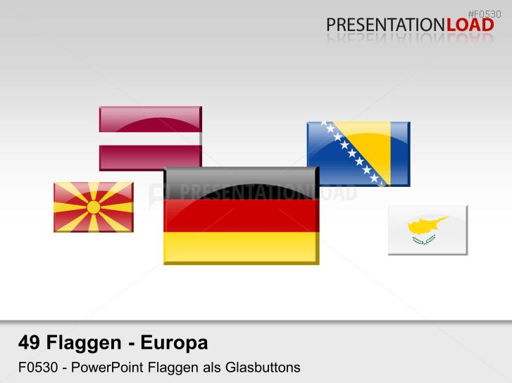 Europa-Set - Glasbuttons