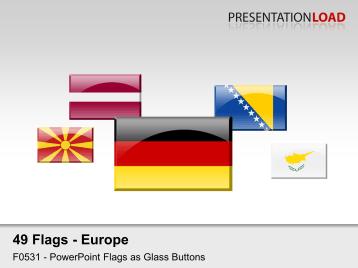 Europe Flags - Glass Buttons _https://www.presentationload.com/flag-europe-glass-buttons.html