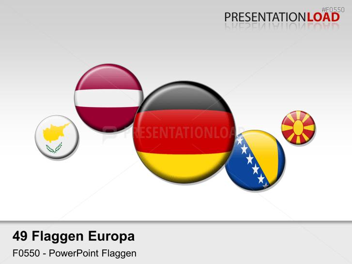 Europa-Set - Runde Buttons