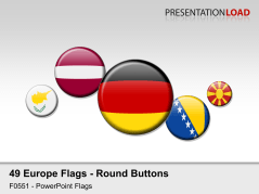 Europe Flags - Round Buttons _https://www.presentationload.com/flag-europe-round-buttons.html