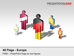 Europe Flags - Men figures _https://www.presentationload.com/flag-europe-figures.html