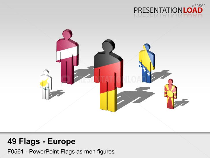 Europe Flags - Men figures