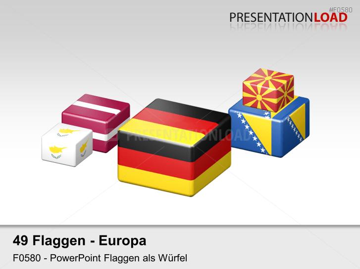 Europa-Set - Würfel