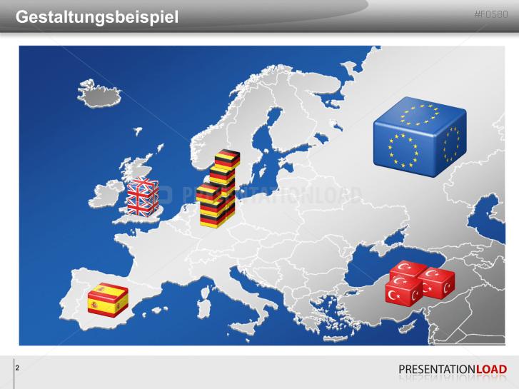Presentationload Europa Set Würfel