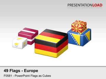 Europe Flags - Cubes _https://www.presentationload.com/flag-europe-cubes.html