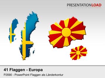 Europa-Set - Länderkonturen _https://www.presentationload.de/flaggen-europa-set-laenderkonturen.html