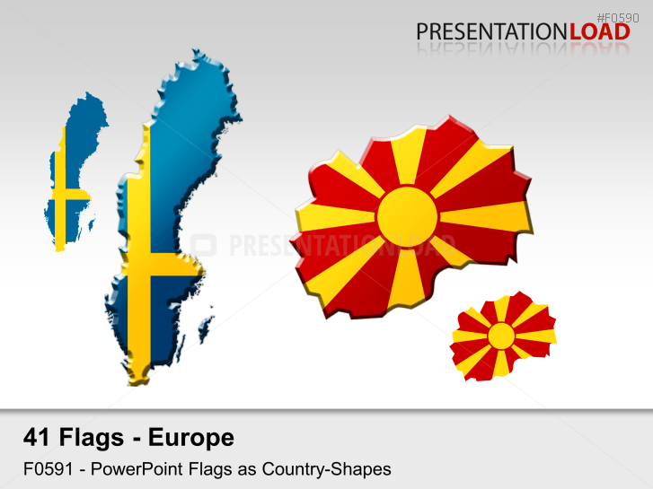 PresentationLoad Europe Flags Country Outlines - Country outlines