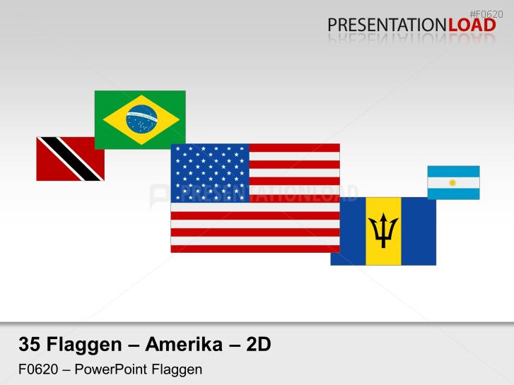 Amerika - Flaggen 2D _https://www.presentationload.de/flaggen-amerika-2d.html