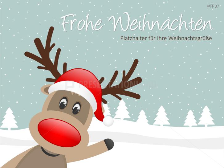 Amerikanische Weihnachtsgrüße.Presentationload Weihnachtsvorlagen Animiert