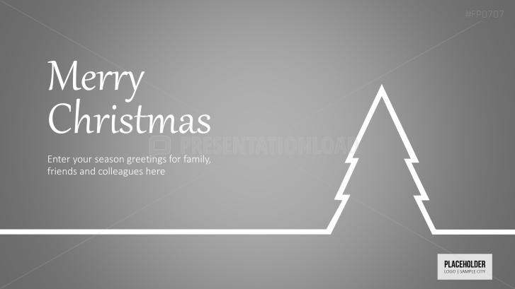 Christmas Templates Christmas Tree Line _https://www.presentationload.com/christmas-templates-christmas-tree-line.html