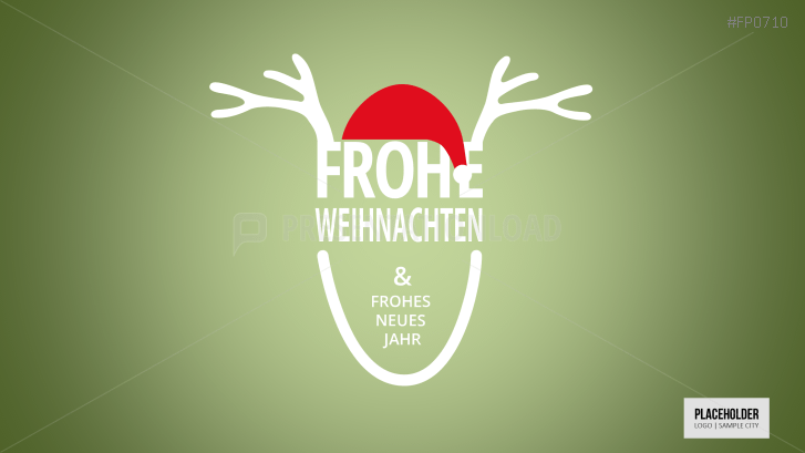 Weihnachtsvorlagen Rentier mit Weihnachtsmütze _https://www.presentationload.de/weihnachtsvorlagen-rentier-mit-weihnachtsmuetze.html