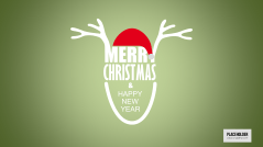 Christmas Templates Line Deer _https://www.presentationload.com/christmas-templates-line-deer.html