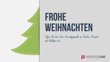 Weihnachtsvorlagen Halber Weihnachtsbaum _https://www.presentationload.de/weihnachtsvorlagen-halber-weihnachtsbaum.html