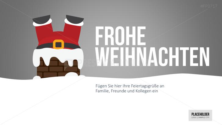 Weihnachtsvorlagen Weihnachtsmann steckt fest _https://www.presentationload.de/weihnachtsvorlagen-weihnachtsmann-steckt-fest.html