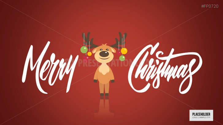 Christmas Templates Christmas Cartoondeer