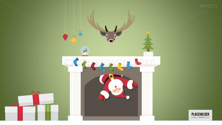 Weihnachtsvorlagen Weihnachtsmann im Kamin _https://www.presentationload.de/weihnachtsvorlagen-weihnachtsmann-im-kamin.html