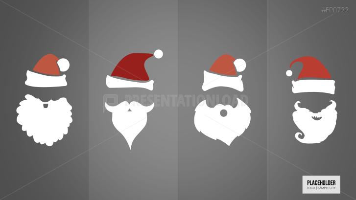 Weihnachtsvorlagen Weihnachtsmann Gesicht