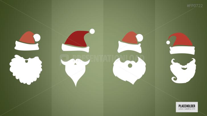 weihnachtsmann gesicht vorlage - ausmalbilder